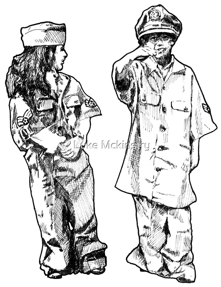 """Artwork: """"Little Sergeants"""" Artist: Elliot Hutkin by Luke Mckinstry"""