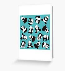 PandiCorn Wings - Pattern 1 Greeting Card