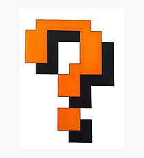 Retro game question mark Photographic Print