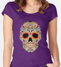Mexican color skull Women's Fitted Scoop T-Shirt