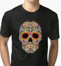 Mexican color skull Tri-blend T-Shirt