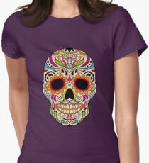 Mexican color skull Women's Fitted T-Shirt