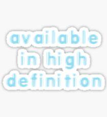 High Definition Sticker