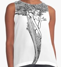 Mermaids Holding Each Other Contrast Tank