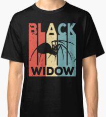 Black Widow Spider Vintage Retro Classic T-Shirt