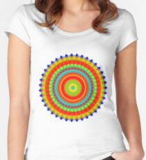 Mandala Colorful Pattern  Women's Fitted Scoop T-Shirt