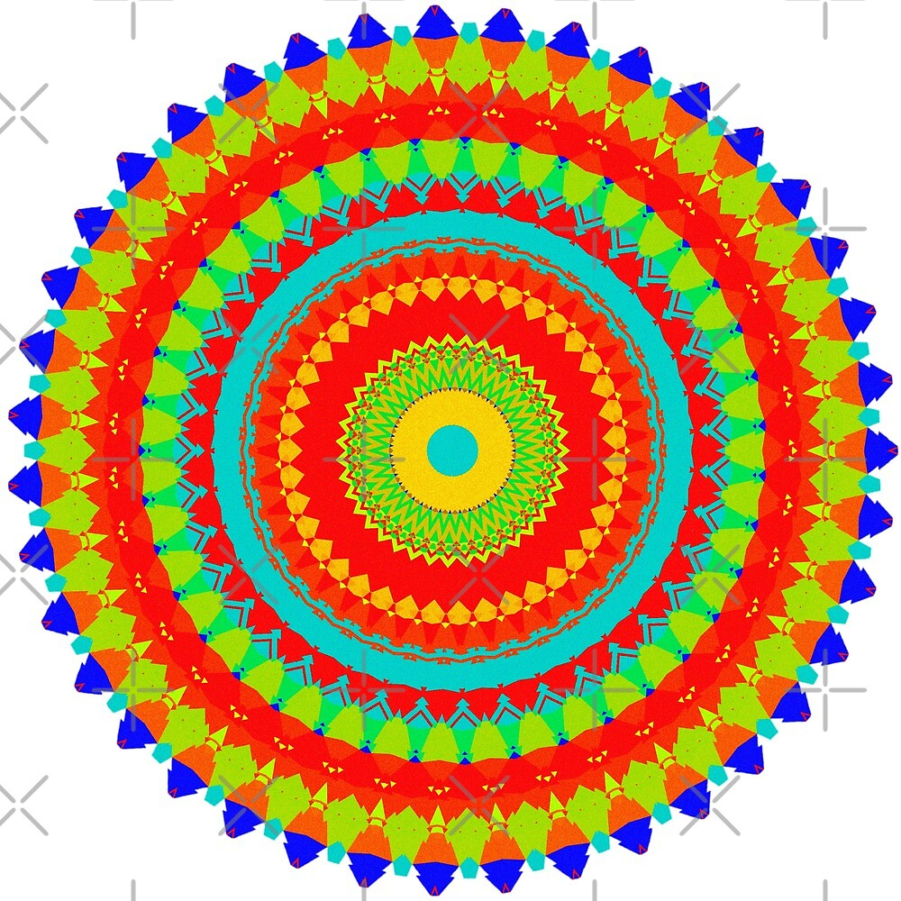 Mandala Colorful Pattern  by OneLook