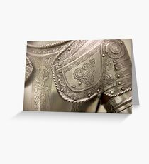 Medieval armour Greeting Card