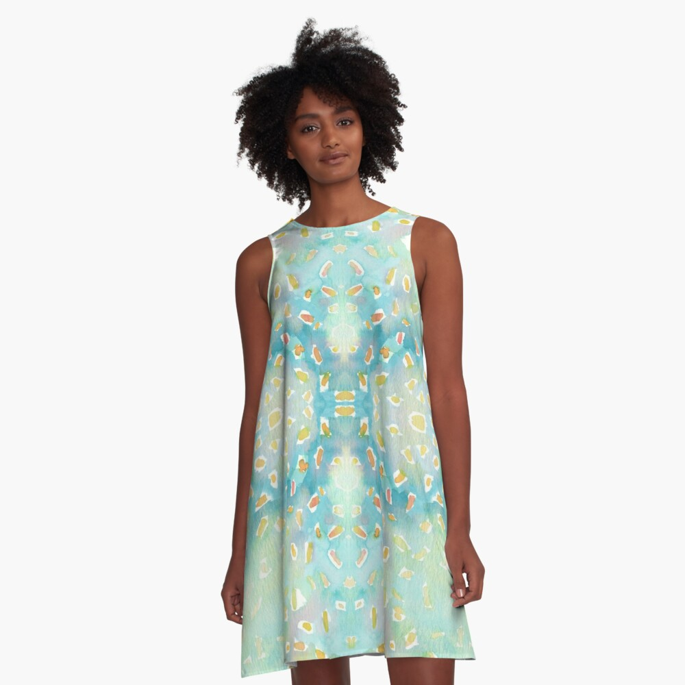 Spotted Grasshopper - Large A-Line Dress Front