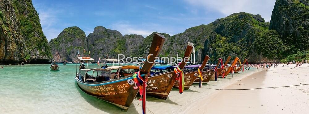 Maya Bay, Ko Phi Phi Lee Island, Thailand by Ross Campbell