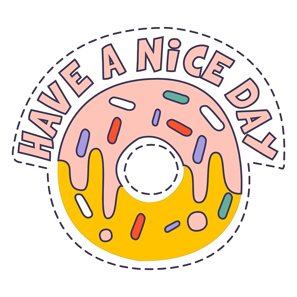 Nice Day Doughnut by topvectors