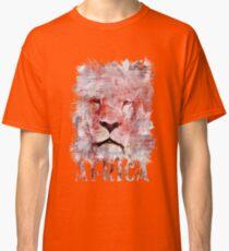 Watercolor Lion Vintage Africa Illustration Classic T-Shirt