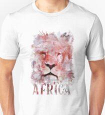 Watercolor Lion Vintage Africa Illustration Unisex T-Shirt