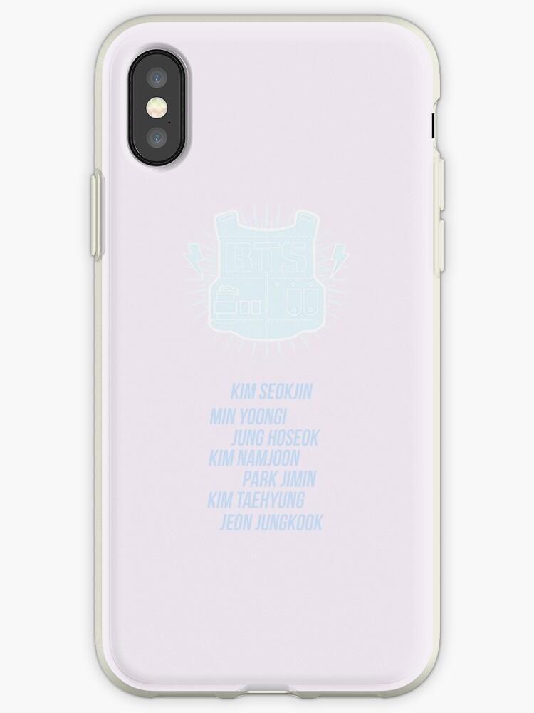 Lavender Bulletproof vest w/ member names - iPhone ver by hobiforjin