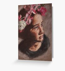 i am a queen crowned with flowers Greeting Card