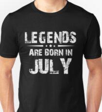 JULY MEN BIRTHDAY BORN LEGEND GIFT T-Shirt