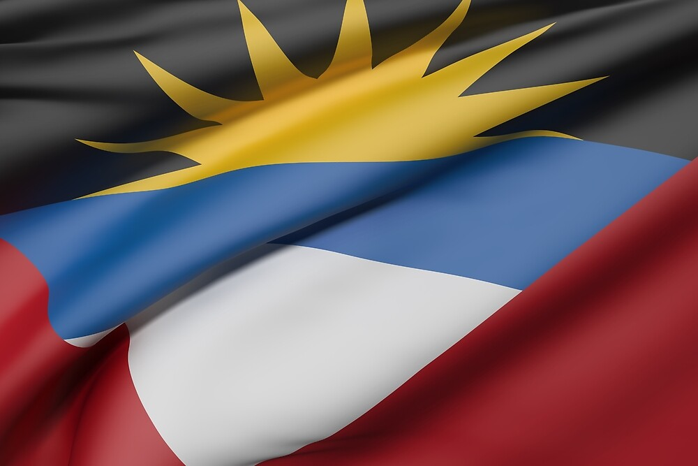 Antigua and Barbuda flag by erllre74