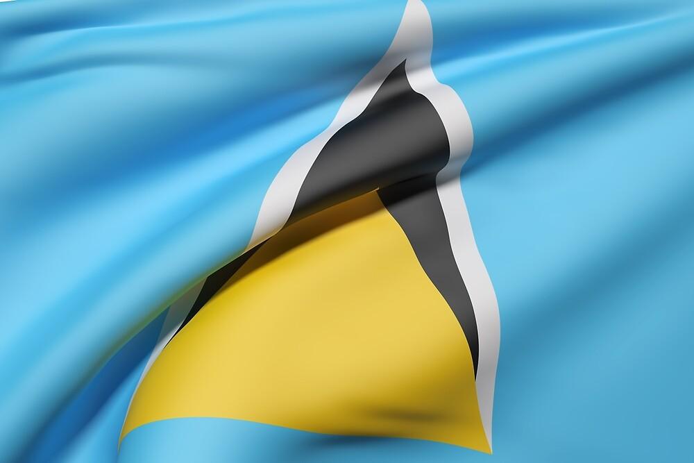 Saint Lucia flag by erllre74