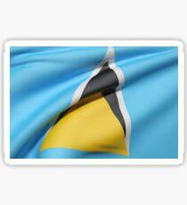 Saint Lucia flag Sticker