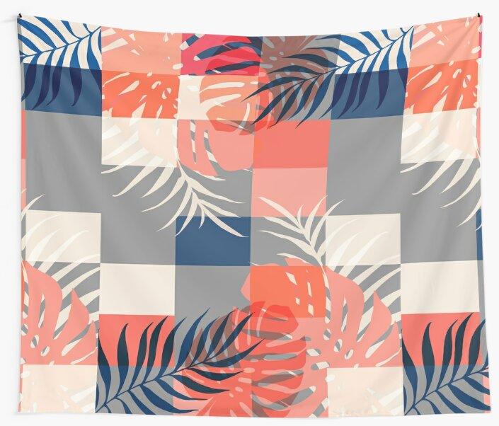 Tropical Puzzle #redbubble #decor #buyart by designdn