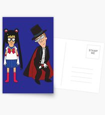 Tina Moon and Buttexdo Mask Postcards