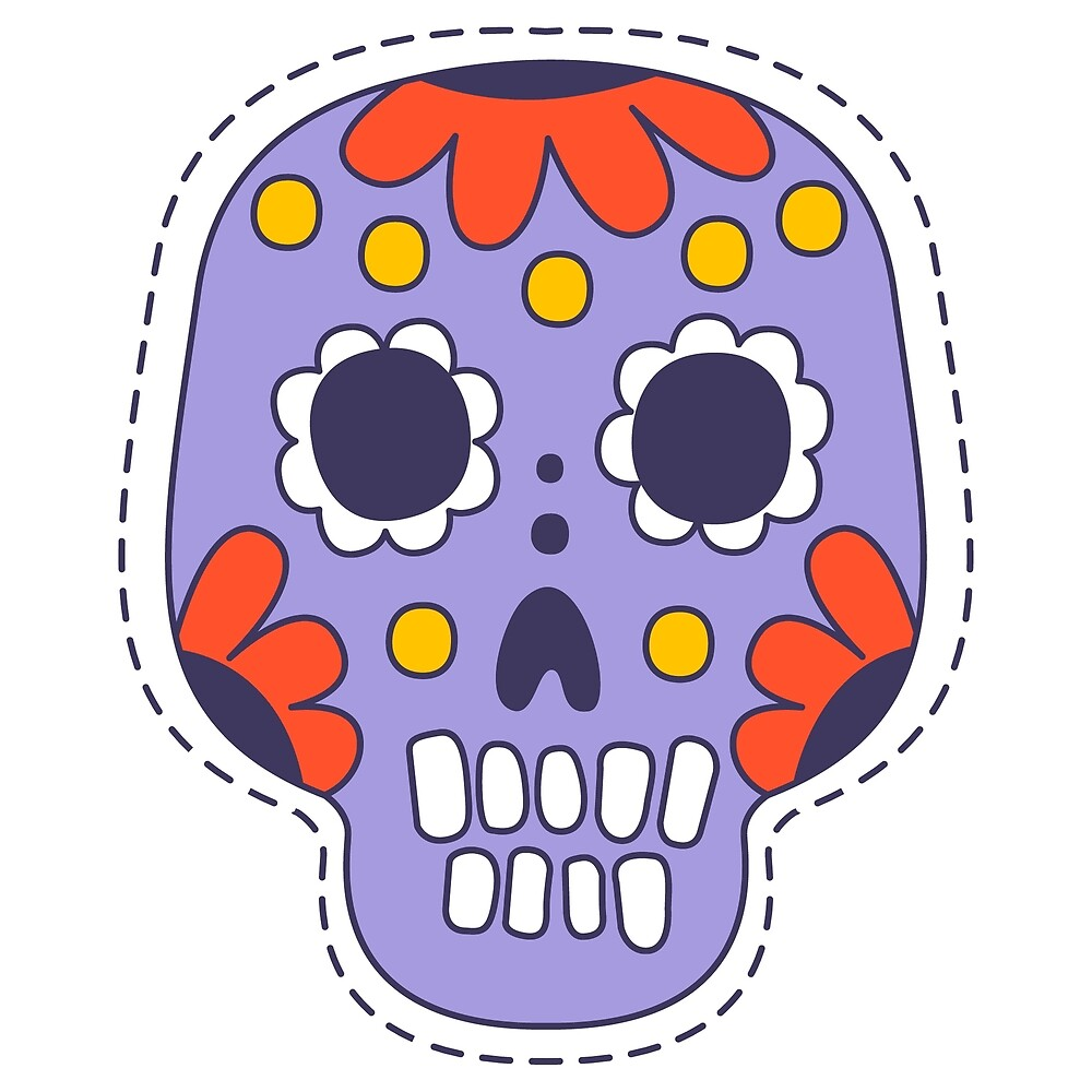 Mexican Painted Skull by topvectors
