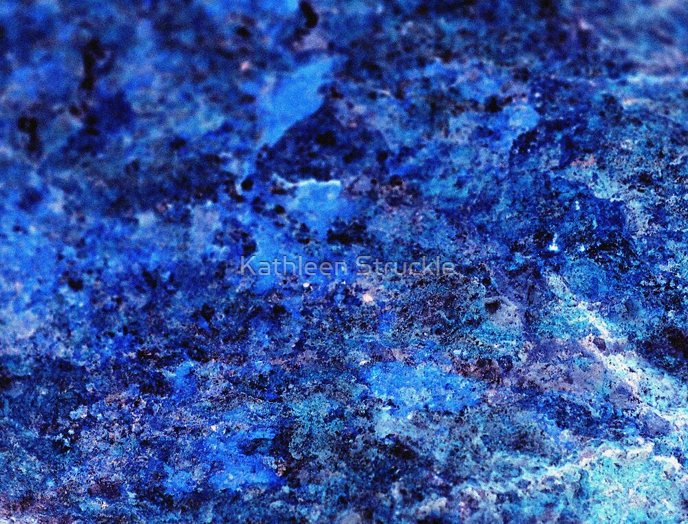Deep Blue Stone Scape by Kathleen Struckle