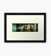 Carousel and Sea Framed Print