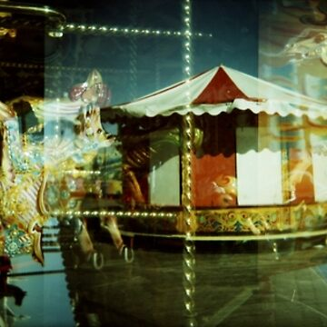 Carousel and Sea by natalietyler
