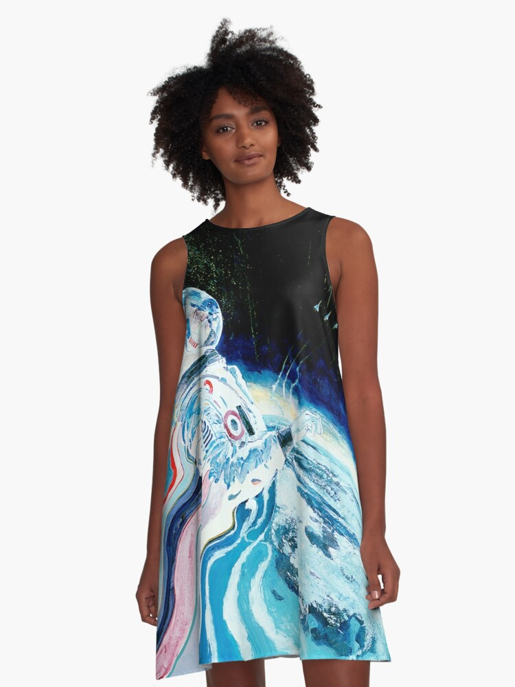 """""""Above and Beyond"""" Artist: Nick Jaros A-Line Dress Front"""