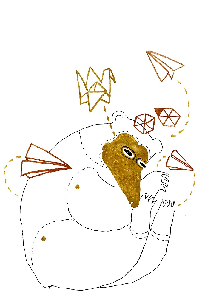Origami Bear by benconservato