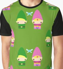 Gnome Link and Zelda Graphic T-Shirt