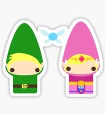 Gnome Link and Zelda Sticker