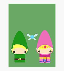 Gnome Link and Zelda Photographic Print