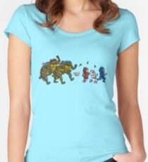 Turtles VS Cats Women's Fitted Scoop T-Shirt
