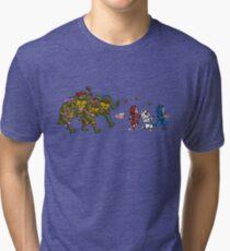 Turtles VS Cats Tri-blend T-Shirt