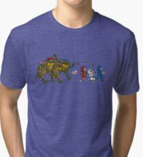 Turtles VS Cats Tri-blend T-Shirt