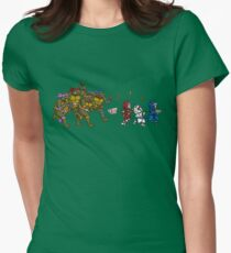 Turtles VS Cats Womens Fitted T-Shirt