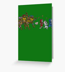 Turtles VS Cats Greeting Card