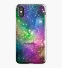 Pink, blue, green iPhone Case
