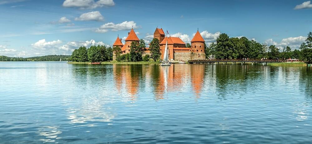Trakai Castle on Lake Galve by Geraldas Galinauskas