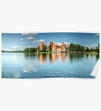 Trakai Castle on Lake Galve Poster
