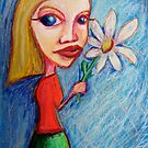 Girl with flower by kimbaross