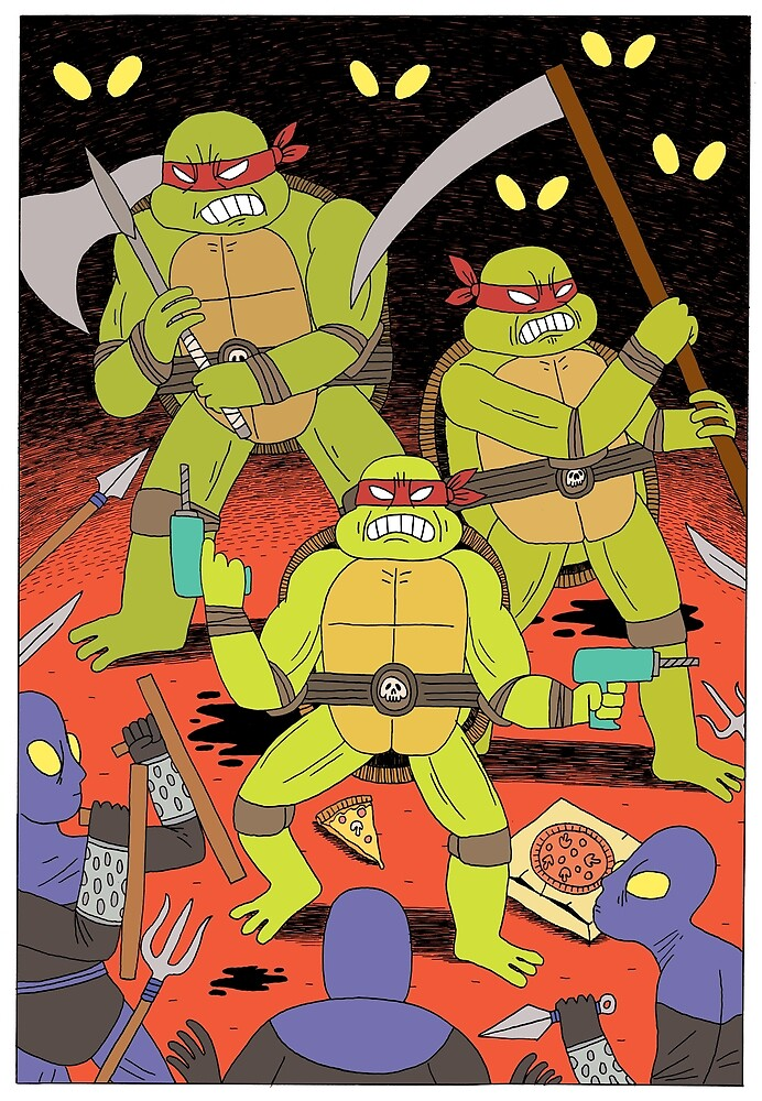 TURTLES FIGHTERS by jackteagle