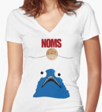 Cookie Jaws Women's Fitted V-Neck T-Shirt