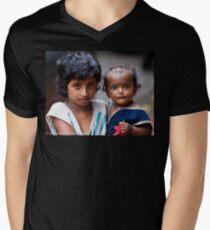 Little Girl With Baby Sister Mens V-Neck T-Shirt
