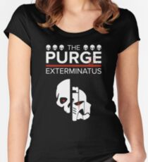 Exterminatus - Warhammer 40k and The Purge Mashup Women's Fitted Scoop T-Shirt