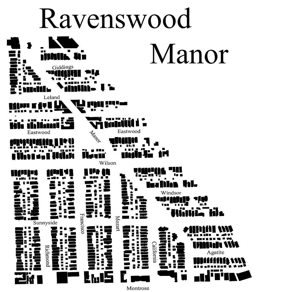 Ravenswood Manor Map  by ChiTownMaps