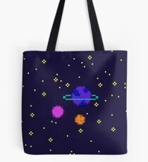 Pixel Planets Tote Bag