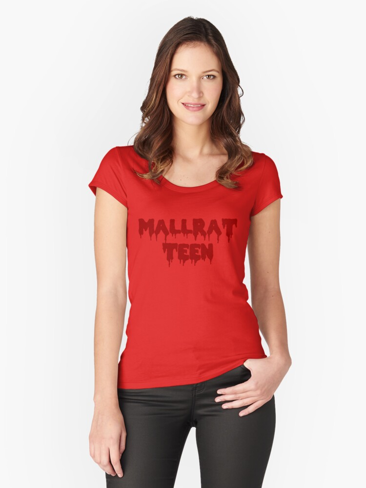 MALLRAT TEEN Women's Fitted Scoop T-Shirt Front